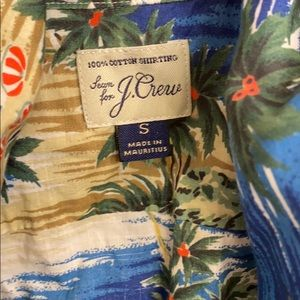 J. Crew Shirts - J Crew beach scene button down